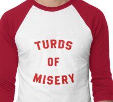 Turds of Misery Men's Baseball ¾ T-Shirt