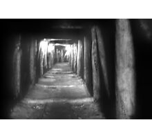 old gold mine tunnel  Photographic Print