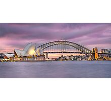 sunset over Sydney Harbour Photographic Print