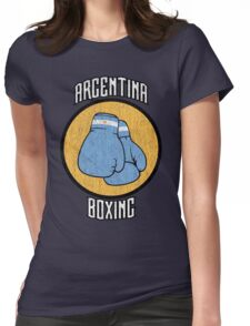Argentina Boxing Womens Fitted T-Shirt