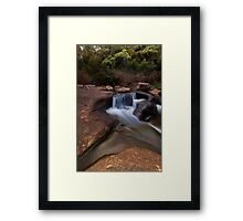 Mclarens sculptured rocks Framed Print