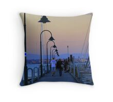 Dusk at the Jetty Throw Pillow