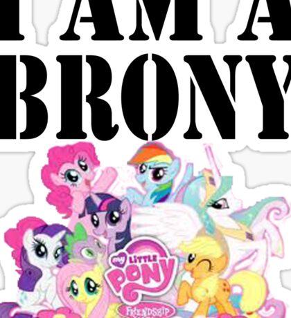 I am a Brony Sticker