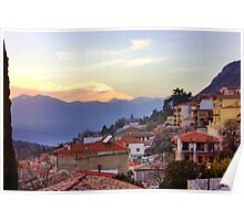 Sunshine Over Delphi Poster