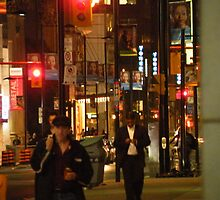 downtown toronto night 2009 by Ronald Eschner
