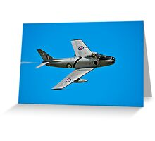 CAC CA-27 Sabre, A94-983, 76 Squadron, RAAF Greeting Card