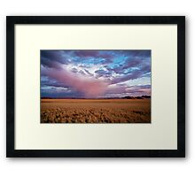 Ghost Rain Over the Desert Framed Print