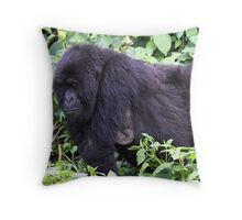 Female Mountain Gorilla Throw Pillow