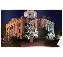 Monroe County Courthouse After Dark Bloomington, Indiana Poster