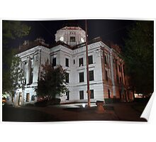 Monroe County Courthouse After Dark Bloomington, Indiana 5 Poster