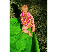 Baby On The Run Photographic Print