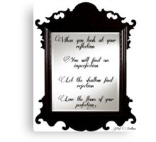 Perfection Reflection Canvas Print