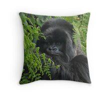 Hirwa, Silver Back Male Mountain Gorilla Throw Pillow