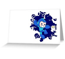 the blue bomber Greeting Card