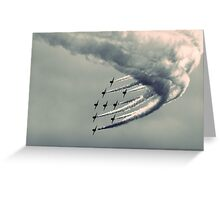 Backlit Arrows Greeting Card