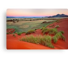 Sand Dunes and Mountains at Dusk Canvas Print