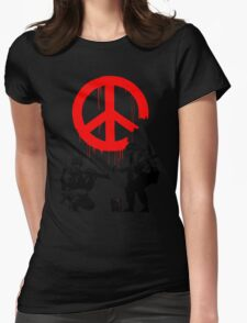 Banksy - Soldiers Painting Peace (CND Soldiers) Womens Fitted T-Shirt