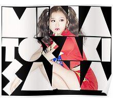 TWICE 'Minatozaki Sana' Typography Poster