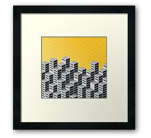 Isometric background Framed Print