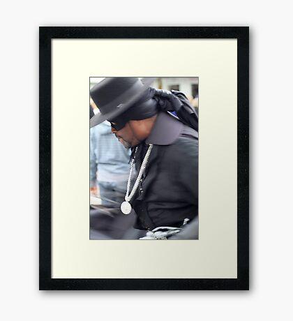 Spin Zorro Spin Framed Print