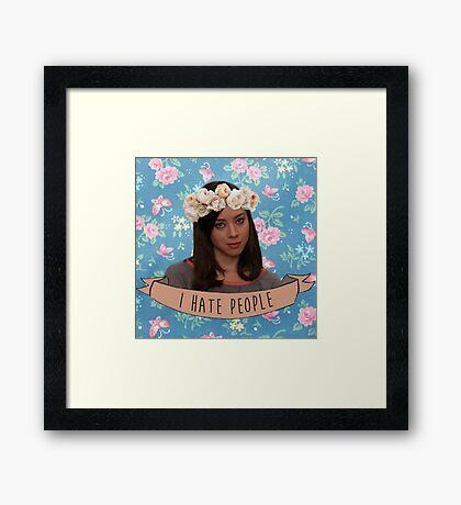 I Hate People - April Ludgate Framed Print