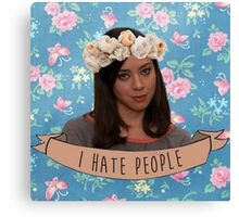I Hate People - April Ludgate Canvas Print