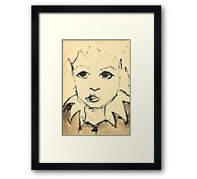 Little Girl (Inspired by Picasso) Framed Print