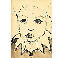 Little Girl (Inspired by Picasso) Photographic Print