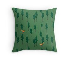 Fox in the woods. Throw Pillow