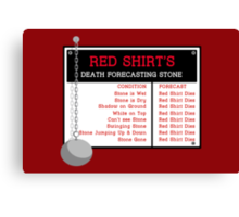 Red Shirt's Death Forecasting Stone Canvas Print