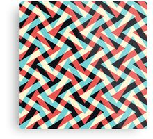 Crazy Retro ZigZag Metal Print