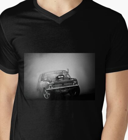FRONT/BACK Motorfest Burnout Mens V-Neck T-Shirt