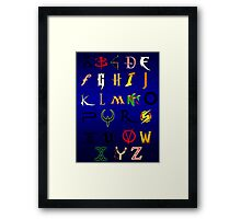 The alphabet of Geekdom Framed Print