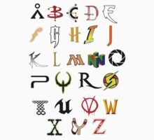 The alphabet of Geekdom Kids Clothes