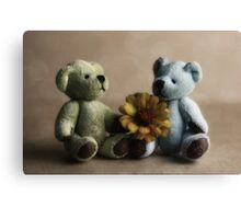 If friends were flowers.... Canvas Print