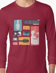 Guitar Collage Long Sleeve T-Shirt