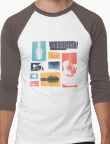 Guitar Collage Men's Baseball ¾ T-Shirt