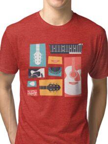Guitar Collage Tri-blend T-Shirt