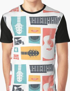 Guitar Collage Graphic T-Shirt