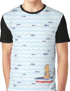 Salty sailor cat. Graphic T-Shirt