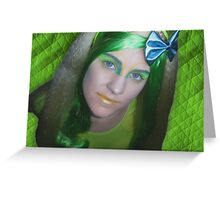 Green Alien Greeting Card