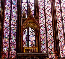 stained glass Sainte Chapelle Paris by tunna