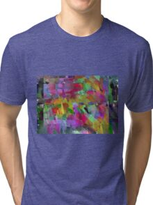 Paint Pattern  Tri-blend T-Shirt
