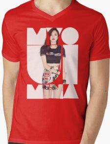 TWICE 'Myoui Mina' Typography Mens V-Neck T-Shirt
