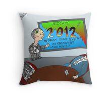 Binary Options News Cartoon SONY 2012 Boardroom Throw Pillow