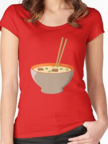Chinese food Women's Fitted Scoop T-Shirt
