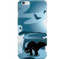 Cartoon Cemetery with Ghosts iPhone Case/Skin