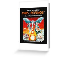 Yars' Revenge Cartridge Artwork Greeting Card