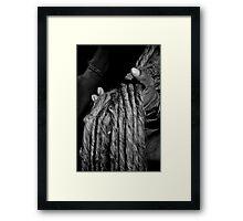 Dreads in Hand Framed Print