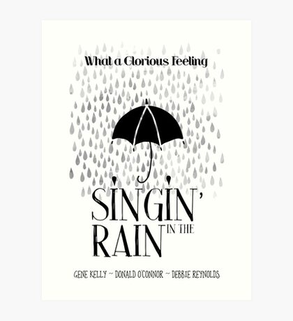 Singin' in the Rain Movie Poster Art Print